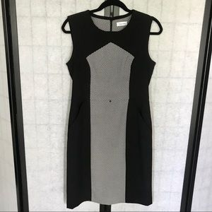 Calvin Klein Black & White Checkered Dress size 8